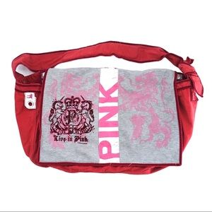 Pink Victoria Secret Messenger Bag Large Tote